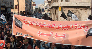 March organized by hizb ut tahrir in ramallah against the israeli attacking on alaqsa. (Photo: ramallah1222007/flickr.com)